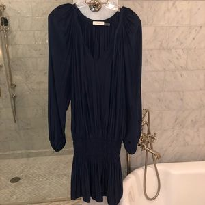 "Ramy Brook ""Paris"" Long Sleeve Smock Waist Dress"